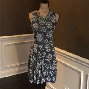 BCBGMaxAzria Blue Flirty Dress